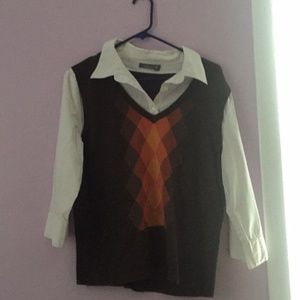 APT9 Attached Sweater Vest  Women's Small